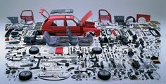 thingsorganizedneatly:  Every part of a VW Golf