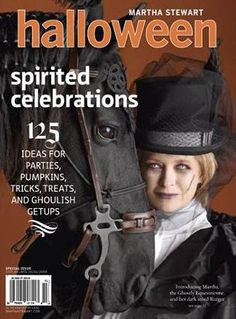 a decade of martha stewart halloween magazines