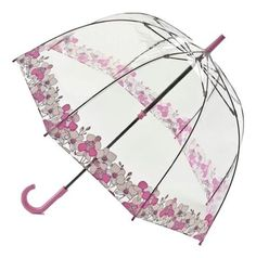 Fashionable dome shape Fulton Orchid Fayre Umbrella