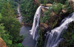 The Lisbon Falls lie north of the little town of Graskop in Mpumalanga, just outside the Blyde River Canyon Nature Reserve in South Africa. Beautiful Waterfalls, Beautiful Landscapes, African Holidays, Out Of Africa, Africa Travel, The Great Outdoors, Places To See, South Africa, Safari