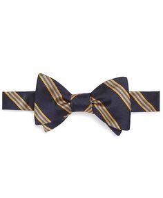 Mini BB#1 Stripe Bow Tie Navy