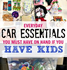 What a great idea and good list of items to store in our car so we're always prepared. I don't want to carry extra stuff in my diaper bag if I don't have to.
