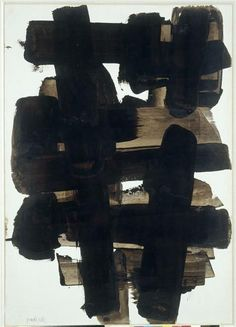 pierre soulages #abstractart