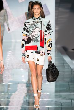 printed #dress x signa :: Spring 2015 collection by #Versace