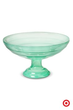 Graceful and just a little bit retro, the Threshold pedestal bowl adds a dash of mint (or a gleam of sea green, if you prefer) to your favorite room. You might fill it with glass beads, polished rocks, faux pearls or tiny shells for an extra effect.