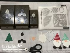 Gnomes Punch and Die Art Christmas Card with a Video | I Love to Stamp Paper Punch Art, Punch Art Cards, Christmas Punch, Christmas Cards, Christmas Ideas, Workshop, Craft Punches, Card Patterns, Heartfelt Creations