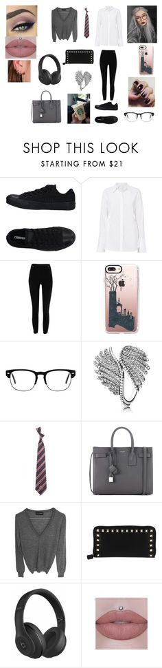 """""""Untitled #350"""" by maddison-baron on Polyvore featuring Converse, A.L.C., River Island, Casetify, Pandora, Eagles Wings, Yves Saint Laurent, Dolce&Gabbana, Valentino and Beats by Dr. Dre"""