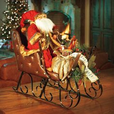 Santa's Sleigh Christmas Decor