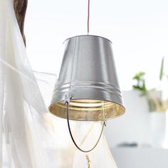 DIY with flower pots? a bunch of them as a chandelier would be awesome!