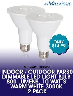 Maxxima PAR38 LED Indoor//Outdoor Daylight Bulb 1275 Lumens 5000K Dimmable 4 Pack