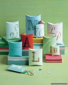 gift wrapping - monogrammed gift box
