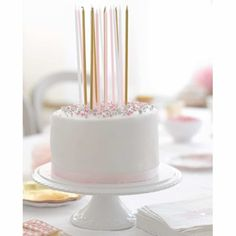 These long pink white and metallic gold candles are perfect for adding height to a special birthday cake this year Each pack contains 16 long candles Special Birthday Cakes, Gold Birthday Cake, Birthday Cake With Candles, Birthday Parties, Long Candles, Glitter Candles, White Candles, Bougie Rose, Sweet Party