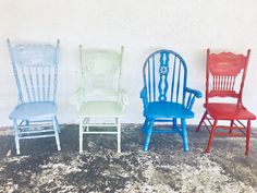 8cb2bcde5440 dining chairs vintage chairs farmhouse chairs custom painted chairs shabby  chic chairs kitchen chairs custom color chairs set of 4 chairs