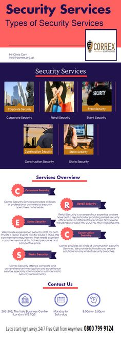 Correx Security Services is a nationwide security company operating in the UK.We provide the various types of security services such as corporate security, retail security, event security, construction security, static security.