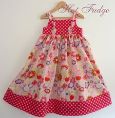 Party Knot Dress Pink Garden Size 7 by HotFudge on Etsy, $48.00