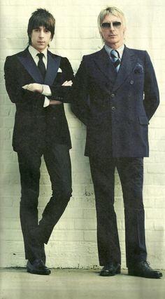 Paul Weller looking maximum Mod, with Miles Kane.