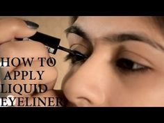 How to Apply Liquid Eyeliner - YouTube