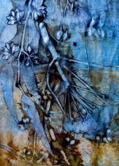 Ecoprint by Pia Best. Natural dye. Indigo. Natural textile arts.