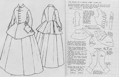 18th Century Dress, 18th Century Clothing, 18th Century Fashion, Patterns Of Fashion, Clothing Patterns, Historical Costume, Historical Clothing, Diy Ken Doll Clothes, Riding Habit