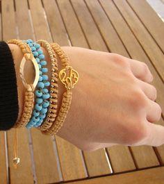 ikaxela Art Of Living, Bangles, Bracelets, Craft Ideas, How To Make, Crafts, Jewelry, Fashion, Moda