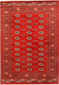 Red/Rust Oriental Bokhara Rug 5' 7