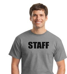 Staff Shirts - Staff Cotton T-Shirts Printed Front, Over 50 Colors, $5.95 (http://www.staffshirts.com/staff-cotton-t-shirts-printed-front-over-50-colors/)