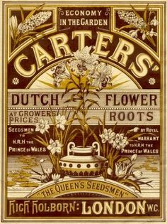 1881 Carters' The Queens Seedsman