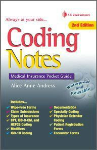 Coding notes:Medical Insurance Pocket guide every student medical biller and Coder should have.