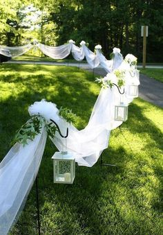 To decor a fantastic outdoor wedding ceremony, I've put together 35 my favorit. To decor a fantastic outdoor wedding ceremony, I've put together 35 my favorite outdoor wedding ideas and hope these wil. Diy Wedding, Wedding Events, Rustic Wedding, Wedding Ceremony, Dream Wedding, Wedding Day, Wedding Backyard, Wedding Beach, Trendy Wedding
