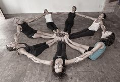 great idea for kids yoga class~a happy yoga circle! :)