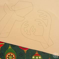 Amora's Crafts and Ideas: Cartão Rudolph pop-up