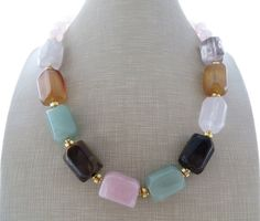 Hey, I found this really awesome Etsy listing at https://www.etsy.com/listing/250535659/multi-gemstone-necklace-multi-color