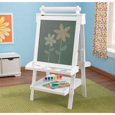 Deluxe Kids White Wood Easel -- possibly have the kids paint this