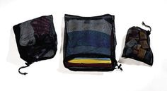 Cocoon Nylon Mesh Bag (Set of - Bags measure: Get organized for travel and outdoor activities with this set of 3 nylon mesh ditty bags for all your smaller items. Durable nylon mesh makes it easy to find the item you are looking for. Luggage Accessories, Camping Accessories, Camping Essentials, Camping Gear, Camping Outdoors, Nylons, Black Models, Travel Luggage, Gym Bag