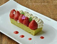 Pourquoi pas .... ??: Pain de Gênes pistache / fraises / crème fromage frais combava