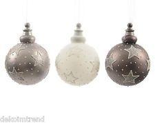 Glaskugeln Stern Weihnachtskugeln Christbaumkugeln Baumschmuck 3er Set