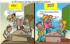 In 50 years a lot has changed in school.