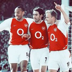 the attacking trio of Arsenal's Invincibles ~ COYG! Arsenal Soccer, Arsenal Players, Arsenal Fc, Best Football Players, Football Kits, Football Soccer, Football Stuff, Dennis Bergkamp, The Sporting Life