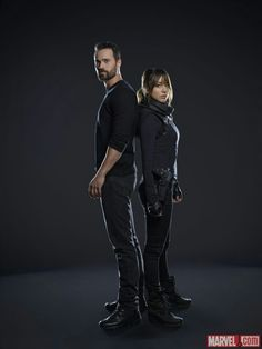 Chloe Bennet aka Skye and Brett Dalton aka Grant Ward season 2 agents of shild photo shoot