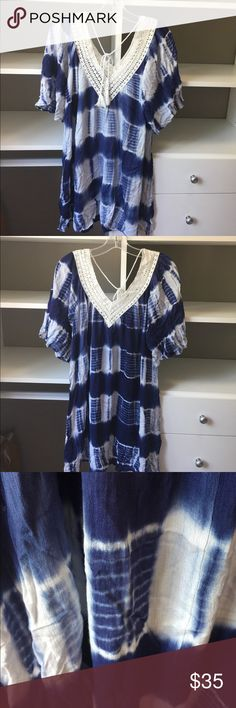 Tye Dye dress 33 Long 100% Rayon ready to be paired with your favorite necklace. Tunic dress. Straight from the manufacturer with no tags but brand new. Price is FIRM Dresses