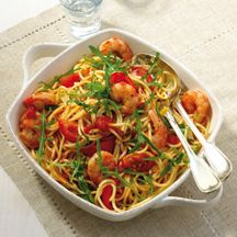 Tomaten-Garnelen-Spaghetti