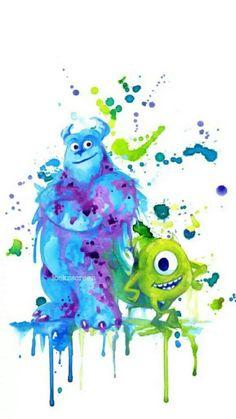 Monsters Inc. splatter art