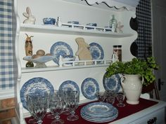 """from: Linda Rarig Osolnick: """"Love blue china""""; dusty old thing"""