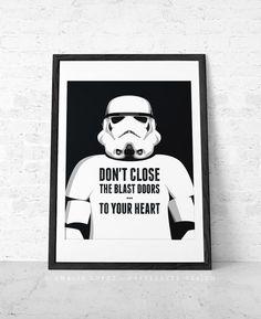 Star Wars print. Stormtropper print by CaffeLatteDesign
