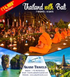 #Thailand With #Bali 7 Nights/8 Days   Email: travels.aakash@gmail.com