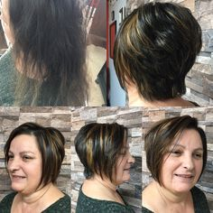 Before & after  Haircut, highlights, style