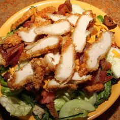 Crispy Chicken Salad With Honey Mustard Poppy Seed Dressing Recipe from Michele