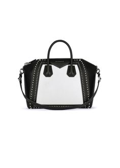 """""""Discover the black   white leather studded bags from the Spring Summer 2015  Collection, available in stores"""" dbd6d64ee4"""