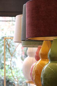 Lámparas de Mesa Varios Colores Cerámica   Pottery Table Lamps Various Colors. Detana, Madrid