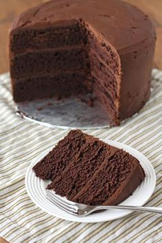 Chocolate stout cake with Ganache frosting